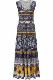 Ärmelloses Jersey-Kleid Green Cotton blau Größe: 44