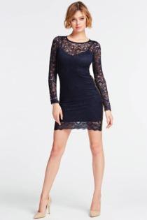 Bandage-Kleid Spitze Glitteroptik