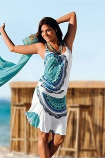 Beachtime Strandkleid, mit Alloverprint
