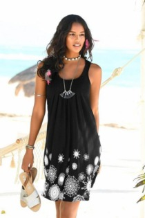 Beachtime Strandkleid, mit grafischem Druck