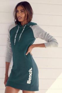 Bench. Sweatkleid, mit Kapuze und farblich abgesetzten Ärmeln