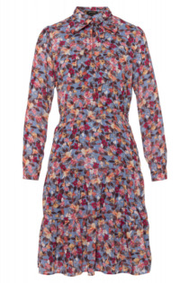 MORE & MORE Chiffonkleid, autumn flower print