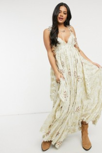 Free People – Meredith – Maxikleid in Gold