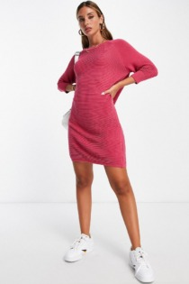 French Connection – Mini-Pulloverkleid aus Strick in Rot