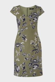 Hallhuber Etuikleid mit Blumendruck für Damen Gr. 36 in multicolor