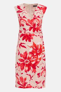 Hallhuber Etuikleid mit Maxi-Blumenprint für Damen Gr. 42 in multicolor