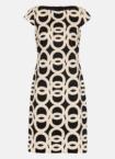 Hallhuber Etuikleid mit Maxi-Kettenprint für Damen Gr. 34 in schwarz