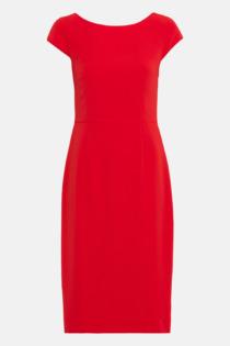 Hallhuber Etuikleid mit Schleifengürtel für Damen Gr. 42 in rot