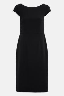 Hallhuber Etuikleid mit Schleifengürtel für Damen Gr. 42 in schwarz