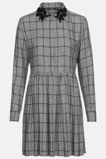 Hallhuber Hängerkleid mit Glencheck-Muster für Damen Gr. 38 in schwarz