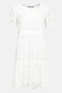 Hallhuber Hängerkleid mit Lochstickerei für Damen Gr. 44 in offwhite