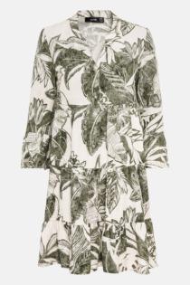 Hallhuber Hängerkleid mit Maxi-Blätterprint für Damen Gr. 42 in salbei