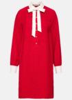 Hallhuber Hemdblusenkleid mit Perlenknöpfen für Damen Gr. 38 in chili