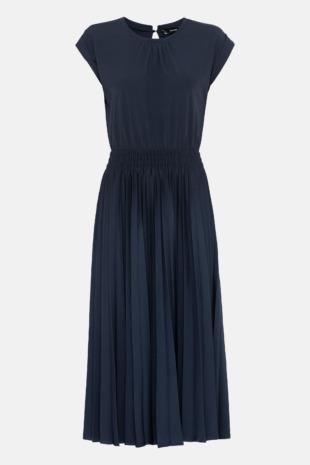 Hallhuber Jerseykleid mit Plissee für Damen Gr. L in indigo