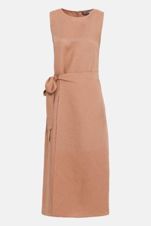 Hallhuber Leinenkleid in Wickel-Optik für Damen Gr. 42 in rose gold