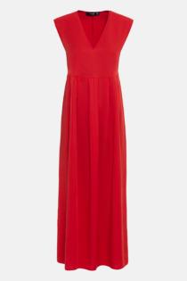 Hallhuber Maxikleid aus TENCEL™ für Damen Gr. 36 in rot