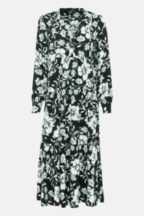 Hallhuber Midikleid mit Blumenprint für Damen Gr. 42 in multicolor