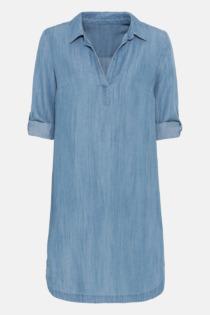 Hallhuber Tunikakleid aus TENCEL™ für Damen Gr. 36 in light blue denim