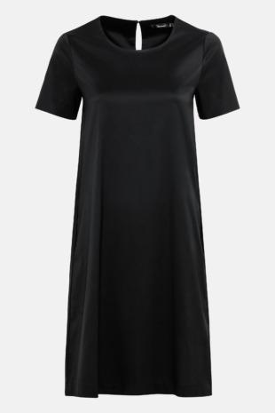 Hallhuber Weit geschnittenes Hängerkleid für Damen Gr. 38 in schwarz
