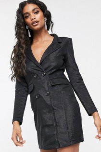 Ivyrevel – Blazer-Minikleid in Schwarz