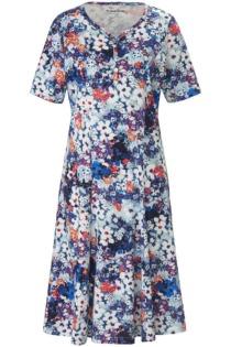 Jersey-Kleid 1/2-Arm Green Cotton blau Größe: 50