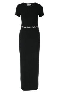 Jersey-Kleid mit dekorativem Tape