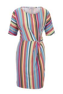 Jersey-Kleid mit Raffung
