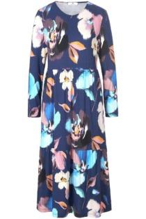 Jersey-Kleid Peter Hahn blau Größe: 38