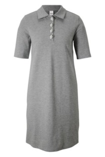 Jerseykleid im Polo-Look