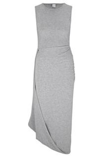 Jerseykleid mit Raffungsdetails und schrägem Saum