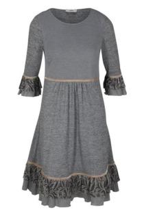 Jerseykleid mit Spitze