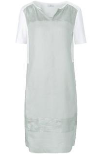 Kleid aus 100% Leinen Riani grün Größe: 44