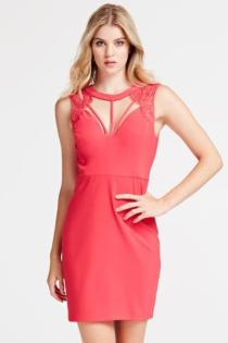 Kleid Detail Cut-Out Und Spitze