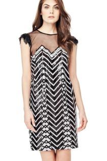 Kleid Geometrischer Print