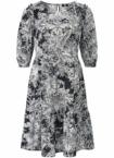 Kleid langem 1/2-Arm Riani schwarz Größe: 48