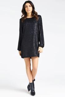 Kleid Paillettenbesatz