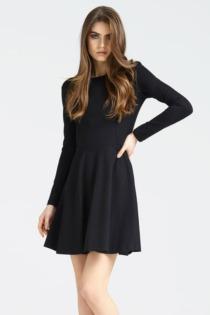 Kleid Runder Ausschnitt