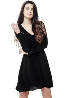 Kleid Schultern Spitze