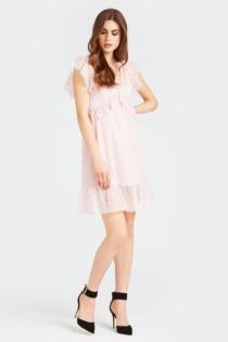 Kleid Spitze Volants