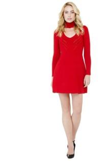 Kleid T-Ausschnitt Durchbruchmuster