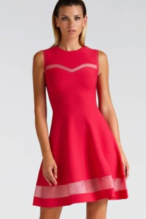 Kleid Transparente Details