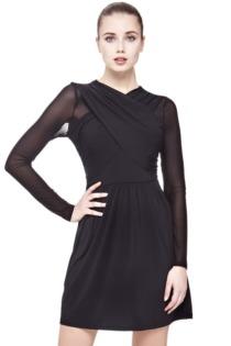 Kleid Überkreuzter Ausschnitt
