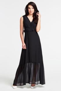 Langes Kleid Fließendem Stoff