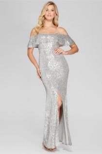 Langes Kleid Volant