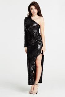 Langes One-Shoulder-Kleid Marciano