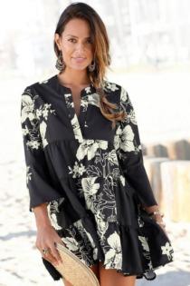 LASCANA Blusenkleid, in weiter Form mit Volants