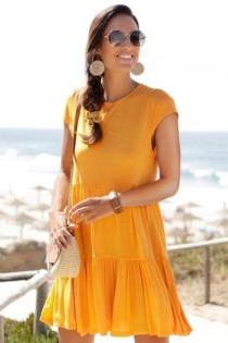 LASCANA Sommerkleid, mit Bindeband im Nacken