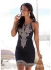 LASCANA Strandkleid, mit Bordürendruck am Saum
