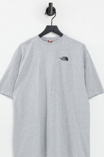 The North Face – T-Shirt-Kleid in Grau, exklusiv bei ASOS