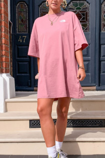 The North Face – T-Shirt-Kleid in Rosa, exklusiv bei ASOS